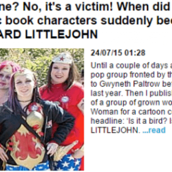 Richard Littlejohn Takes A Second Shot At Cosplay. After Learning The Word 'Cosplay'.