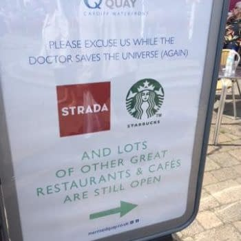 How Mermaid Quay Lets The Public Know Doctor Who Is Being Filmed There