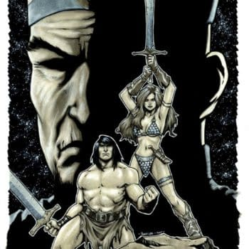 Process Art For Comic Block's Exclusive Red Sonja / Conan Cover