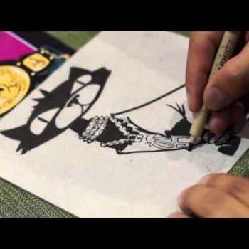 J. Gonzo Draws A Punk Rock Cat (VIDEO)