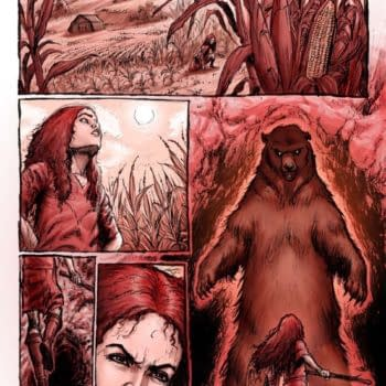 The Process Art For Gail Simone's Last Issue Of Red Sonja