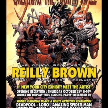 Reilly Brown Brings Us A Back To The Future Deadpool And Cable Cover, Plus Art Show