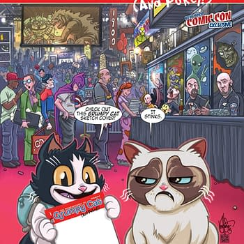 Step-By-Step Of Ken Haesers NYCC Exclusive Grumpy Cat Cover For Dynamite