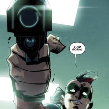 The First Nine Pages Of Robin War Is Dark Knight Crossed With Civil War