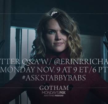 Ask Stabby Babs &#8211 Erin Richards To Do Twitter Q&#038A Today For Gotham