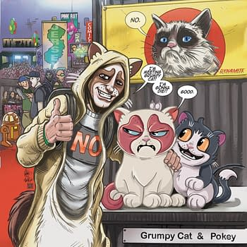Ken Haesers Grumpy Cat Cover Process Art