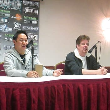 Hanging Out With Comic Book Mens Ming Chen And Mike Zapcic At Foxprowl-Con