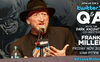 Frank Miller To Answer Fans Twitter Questions On Friday. Well Some Of Them.