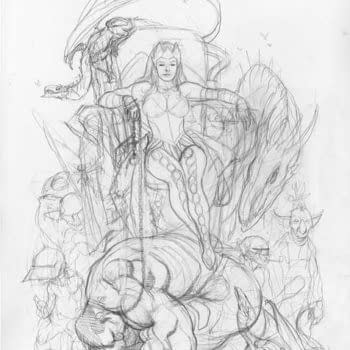 And Finally… Frank Cho Draws Enchantress On Top Of The Hulk
