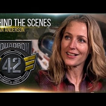 Gillian Anderson Has Fun (I Think) On The Star Citizen Set In New Video