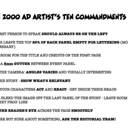 David Gallaher Shares 2000 A.D. Artist's Ten Commandments