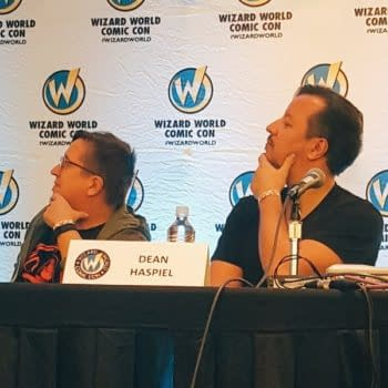 The Wizard World Chin-Holds Of Dean Haspiel And John Layman