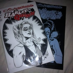 A Ming Doyle Harley Quinn Sketch In A Black Bag