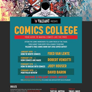Hastings And Valiant Team For Comics College