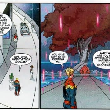 Captain Marvel #1 And Mixed-Gender Shower Scenes In Sci-Fi