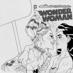 Has Anyone Seen Ben Caldwell's Harley Quinn Sketch In A Wonder Woman Black Bag?