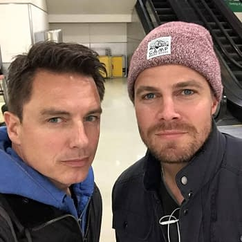 John Barrowman Stephen Amell And Snowmaggedon