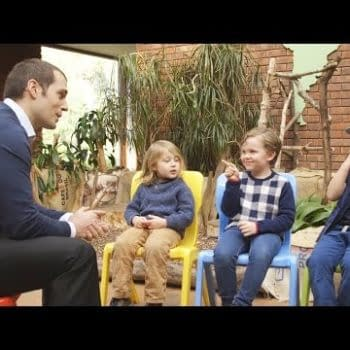 Henry Cavill Talks To Kids About Superman And Batman