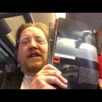 Opening The Batman V Superman Art Books From Titan On The Train To Waterloo On My Way To See The Film