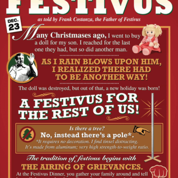 Warner Bros Registers 'Festivus' Trademark For Comics And More. It's All Just Getting Too Commercial…