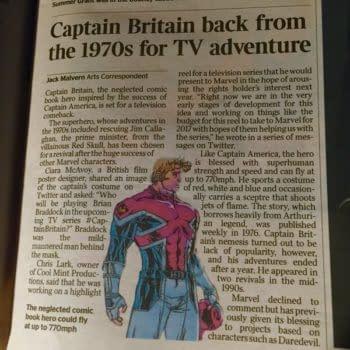Tonight BBC Radio 4 Covers Captain Britain