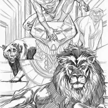 Mark Brooks Process Art For Black Panther #1 Cover