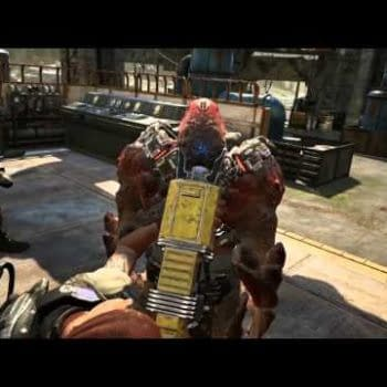 Check Out The New Gears Of War 4 Weapon The Dropshot In Burtal Execution