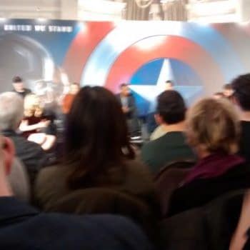 """Chris Evans Would Really Be On #TeamIronMan And """"A Little Digital Simulation Never Hurt Anybody"""" – Robert Downey Jr At The Civil War Press Conference"""