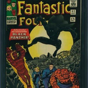 $90,000 Record Sale For First Appearance Of The Black Panther, Fantastic Four #52