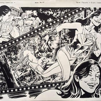 The Only Existing Page Of Original Art For Wonder Woman: Earth One Is Up For Auction