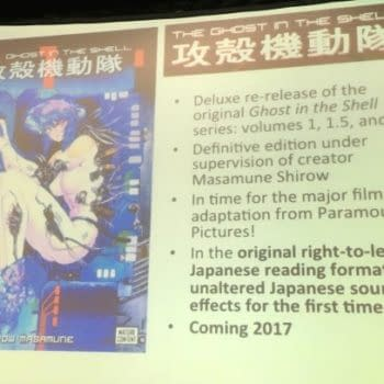 Kodansha To Publish Deluxe Ghost In The Shell, Right-To-Left, In Time For The Movie
