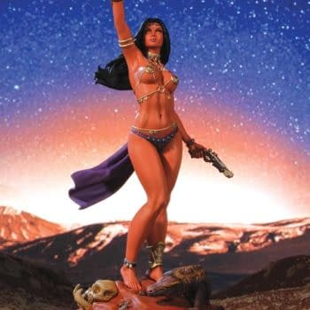 Red Sonja, Dejah Thoris And Jungle Girl Limited Statues And Chaos Pins