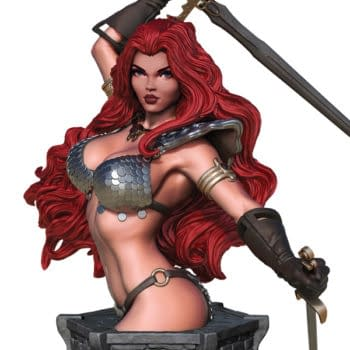 3 New Women Of Dynamite Collectibles Including An Arthur Adams Red Sonja Bust