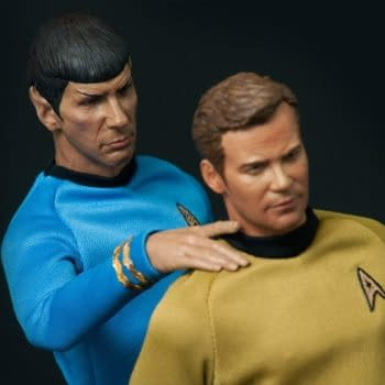 Captain Kirk And Mr. Spock 1/6th Scale Figures From Quantum Mechanix, Inc