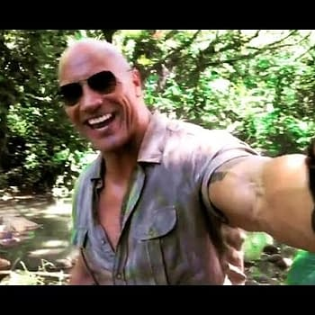 Dwayne Johnson Having Fun While Filming Jumanji