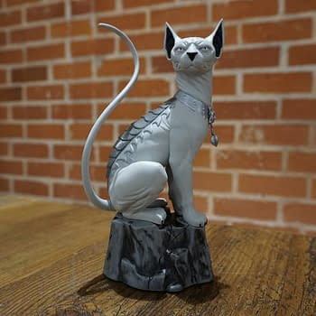 A Lying Cat Statue For Local Comic Shop Day 2016