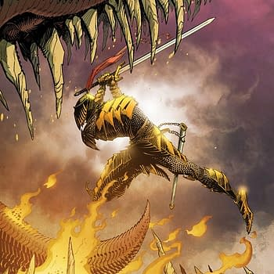 John McCreas Process Art For Dark Souls: Legend Of The Flame Cover