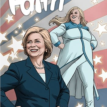 Is The Support For Hillary Clinton In Faith #5 Too Political For Comic Shops