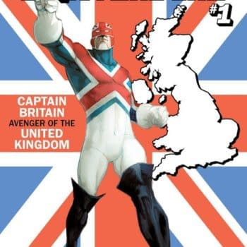 """Now Captain Britain Gets a U.S.Avengers """"State"""" Variant Cover"""