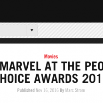 Marvel Wants You… To Vote In 2-Year-Old People's Choice Awards For Some Reason