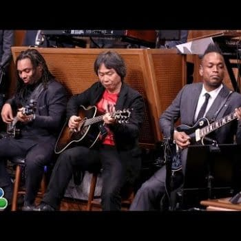 Miyamoto Playing The Super Mario Theme With The Roots Should Put A Smile On Your Face