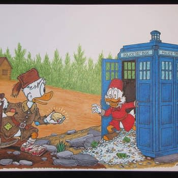 Don Rosa Drew Scrooge McDuck In The Tardis Before David Tennant Joined The #Ducktales Revival