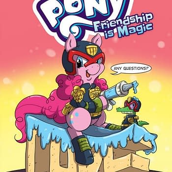 Judge Dredd Meets Pinkie Pie On Katie Cooks My Little Pony Deviations Variant From IDW