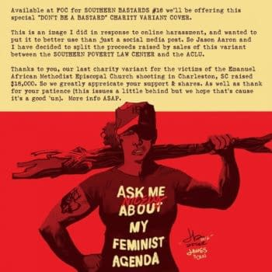 "Southern Bastards #16 ""Feminist Agenda"" Variant To Raise Money For ACLU, SPLC"