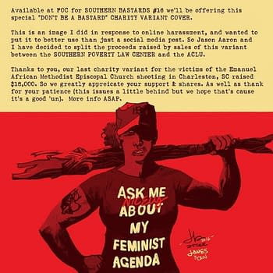 Southern Bastards #16 Feminist Agenda Variant To Raise Money For ACLU SPLC