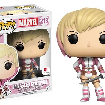 An image of the Unmasked Gwen Pool Funko Pop collectible figure.