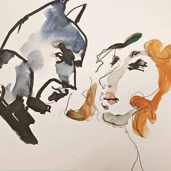 An image of Batman and a ginger haired person