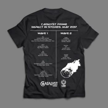 Catalyst Prime's Tour T-Shirt Lays Out The Comics Line – Free At ComicsPRO