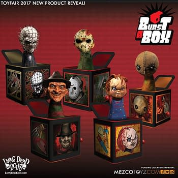 Mezco Creates Nightmare Fuel With New Line Horror Burst-A-Box