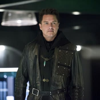Stephen Amell Had Trouble Finding Something To Wear To John Barrowman's 50th B-Day Party